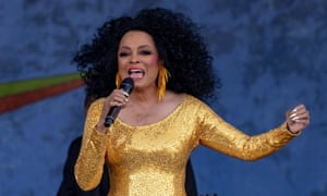 Diana Ross performing at New Orleans Jazz & Heritage festival.