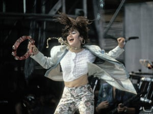 Performing at Live Aid in the summer of 1985.