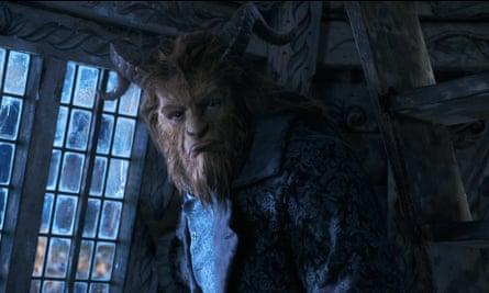Hairy superhero … Dan Stevens is quite a handsome Beast.