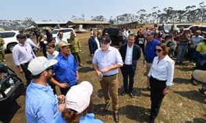 Australia's Prime Minister Scott Morrison visits fire-ravaged Kangaroo Island