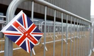 A UK Sport flag outside the Copper Box