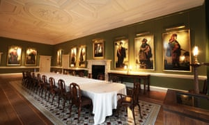 A restored room in Auckland Castle, with the Zurbarán masterpieces on show.