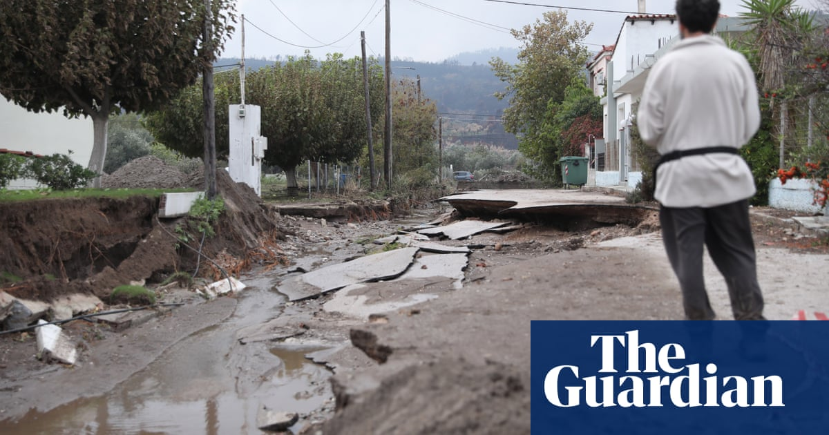 Fire-ravaged Greek island of Evia hit by floods and mudslides