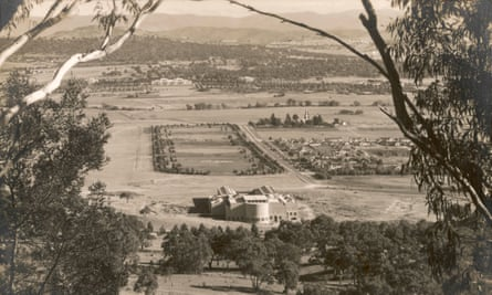 Canberra in the 1930s: the city's design changed dramatically from Walter Griffin's original plan.