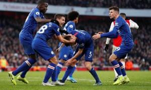 Jorginho celebrates.