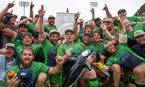 The Seattle Seawolves celebrate their second MLR title win.