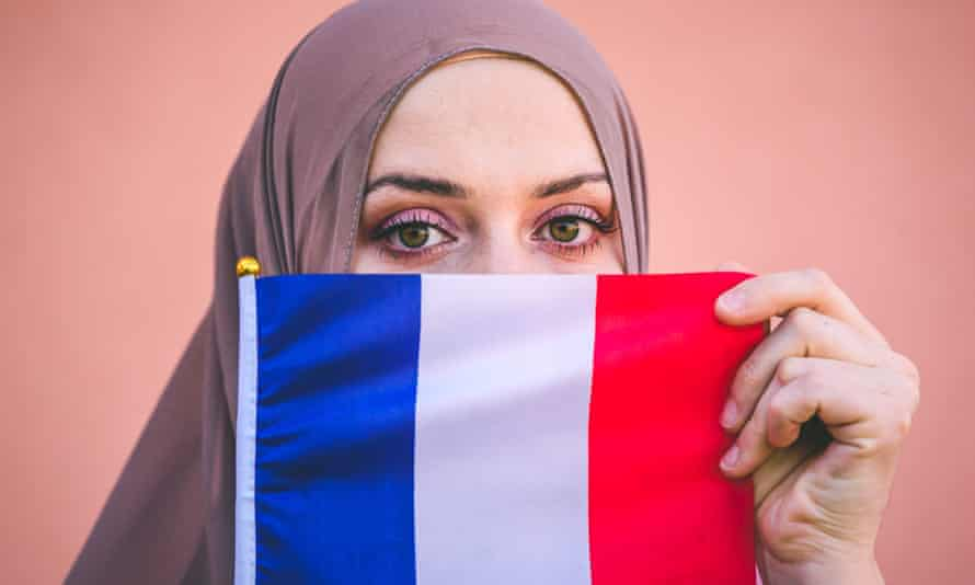 'We often hear there is an integration problem in France – but what there is, is a racism problem' (posed by model).