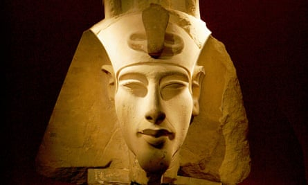 Akhenaten ruled Egypt for 17 years, he was probably the father of Tutankhamun and was almost certainly a little bit crackers. Limestone bust of the pharaoh.