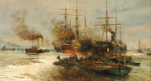 Scene on the Lower Thames, 1884, by William Lionel Wyllie.
