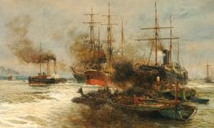Scene on the Lower Thames William Lionel Wyllie, 1884.