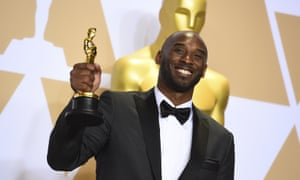 Kobe Bryant at the 2018 Oscars. Bryant died on Sunday in a helicopter crash.