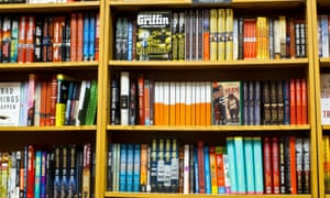 Fully Stocked Bookstore Shelves, USA. Image shot 2011. Exact date unknown.<br>C2A62B Fully Stocked Bookstore Shelves, USA. Image shot 2011. Exact date unknown.