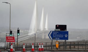 Diversions in place at Queensferry Crossing