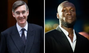 Jacob Rees-Mogg and Stormzy