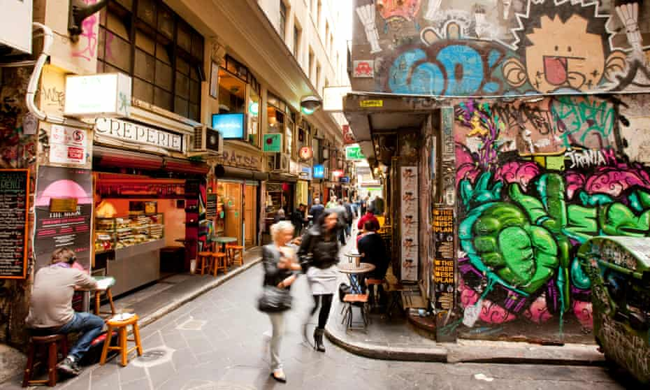Melbourne's laneways, once a dumping ground, have been transformed into hidden gems.