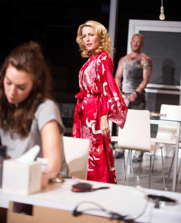 Vanessa Kirby, Gillian Anderson and Ben Foster in A Streetcar Named Desire.