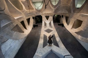 The basement level in Zeitz-Mocaa in Cape Town, South Africa.