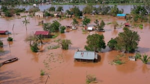 Buzi, Mozambique: Tropical Cyclone Eloise made landfall with flooding and wind speeds of 100mph.