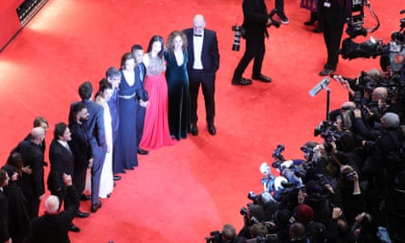 The cast of My Salinger Year on the red carpet in Berlin.