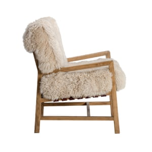 Wild chair in yeti beige and weathered oak, £2,250, by Timothy Oulton.