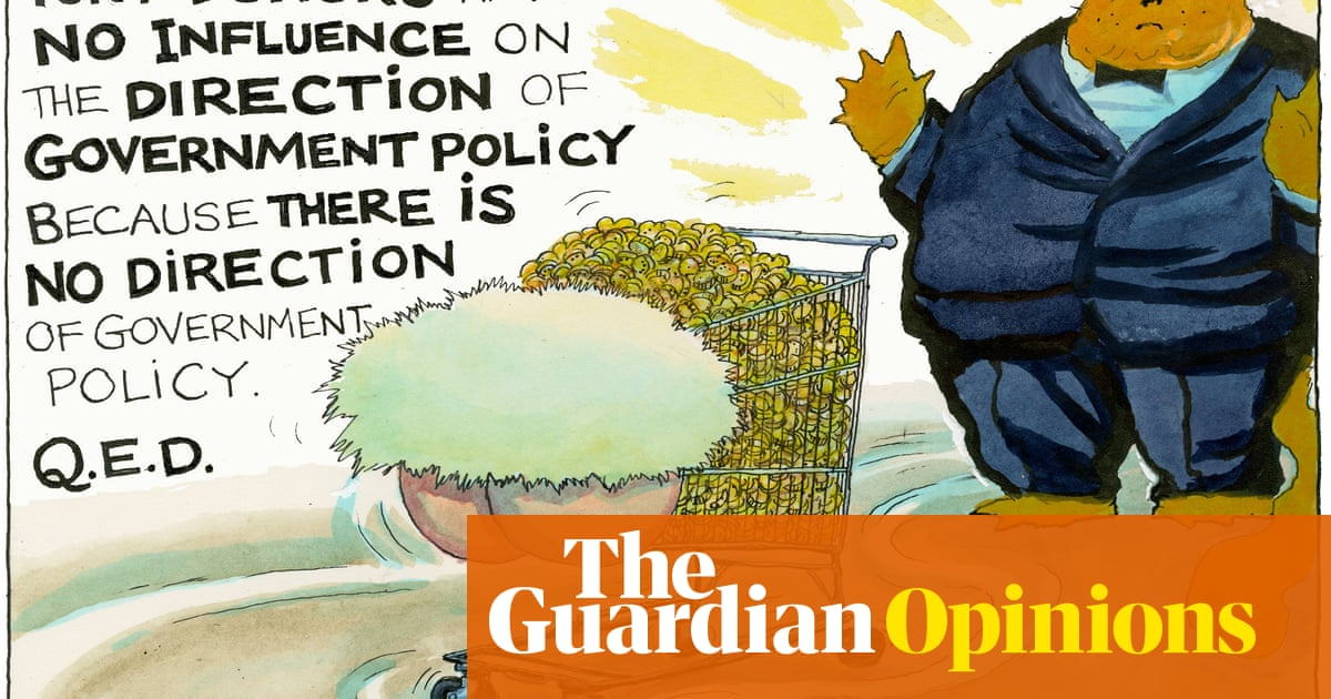 Steve Bell on claims around Tory party fundraising – cartoon