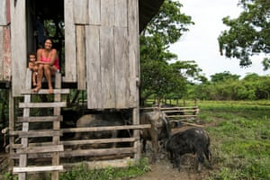 Residents of Cabo Orange National Park in Amapá state.