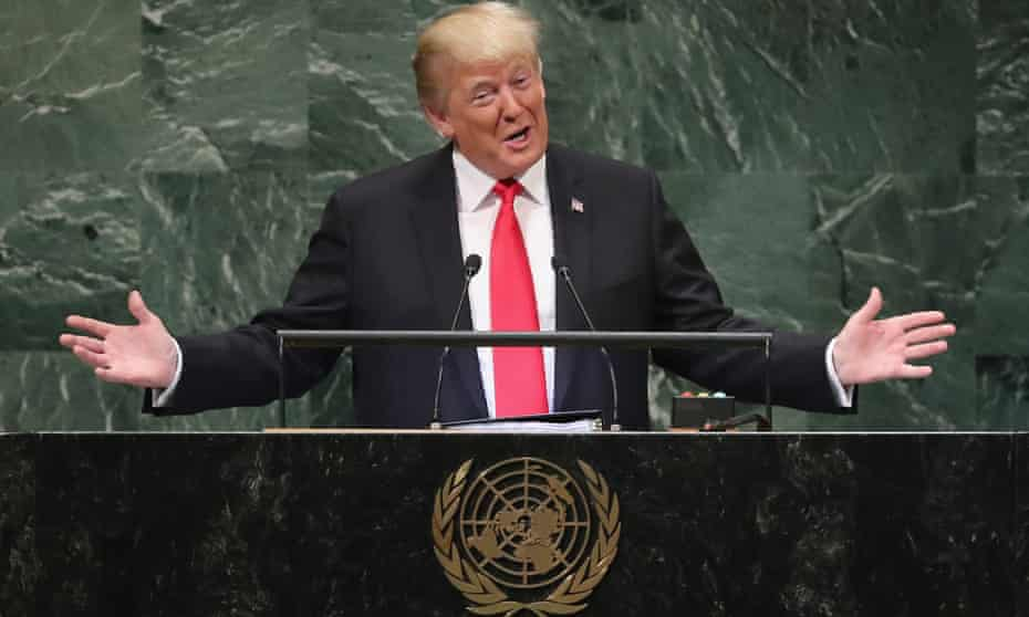 Trump addresses the UN