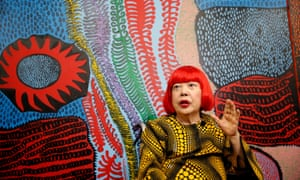 Yayoi Kusama speaks to journalists in Tokyo before the opening of a new museum dedicated to her work.