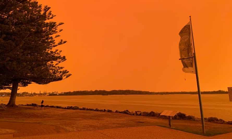 Orange sky over Port Macquarie
