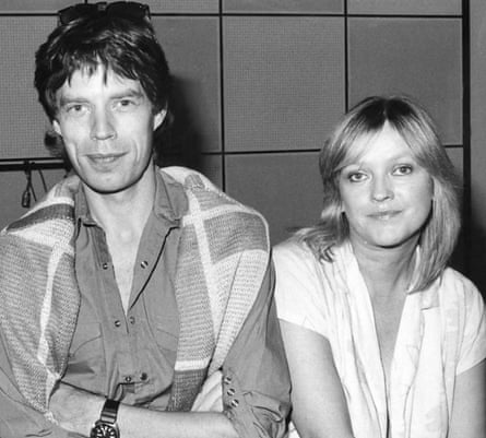 With Mick Jagger on a 1980 episode of the BBC music review show Roundtable.