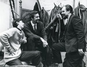 Trevor Nunn, John Barton and the designer John Bury backstage in 1965.