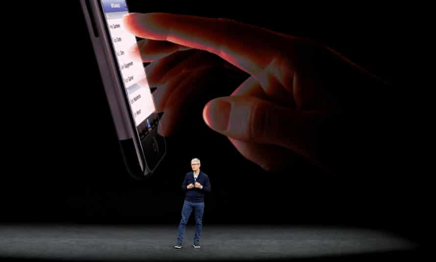 tim cook talks about iphone 8 on stage in cupertino california september 2017