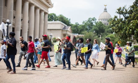 Activists with the Poor People's Campaign protesting on Capitol Hill in June.