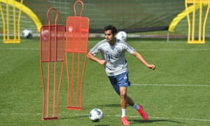 Sarpreet Singh, pictured here during a Bayern Munich training session in April, was part of the New Zealand side at the Under-20 World Cup.