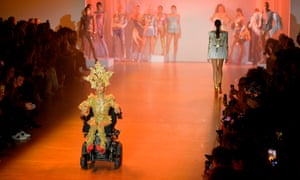 Model Jillian Mercado appears on the catwalk for The Blonds during New York fashion week, February 2020
