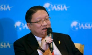 James Su, chief executive of G&E Studio and EDI Media, speaks during the Boao forum in Boao, Hainan province, China in 2013.
