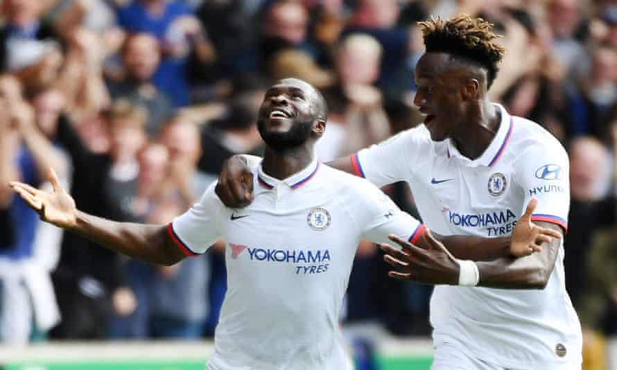 Fikayo Tomori, left, and Tammy Abraham scored four Chelsea goals between them against Wolves.