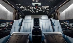 interior shot of the million-stitch Rolls-Royce Phantom.