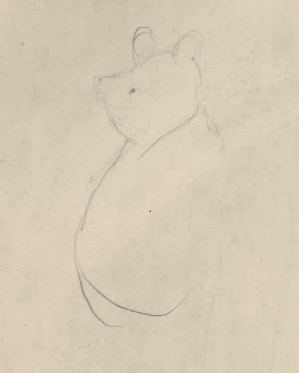 EH Shepard's first known drawing of Winnie-the-Pooh