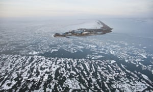 The company plans to drill four exploration wells from an 11-acre artificial gravel island constructed in state of Alaska waters.