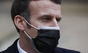 Emmanuel Macron, yang dinyatakan positif mengidap virus corona.