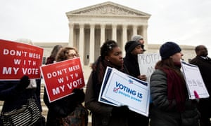 Advocates for voting rights rally outside the US Supreme Court