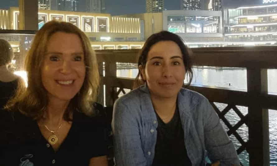 An image apparently showing Princess Sheikha Latifa, in Dubai, United Arab Emirates.