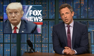 'To be fair, you might also have an inflated ego if there was a whole TV channel dedicated to showering you with praise.'...Seth Meyers