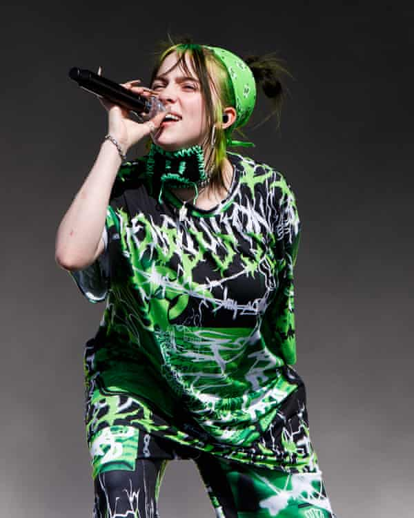 Billie Eilish performing at last year's Reading Festival, where she drew the biggest crowd.