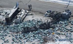 The crash site near Tisdale.