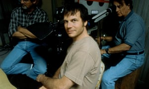Paxton on the set of Frailty.