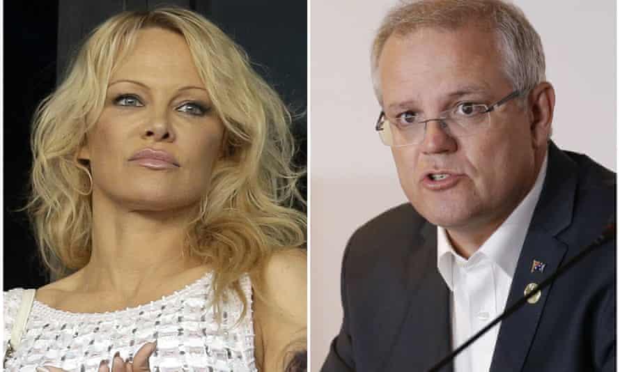 Pamela Anderson and Scott Morrison