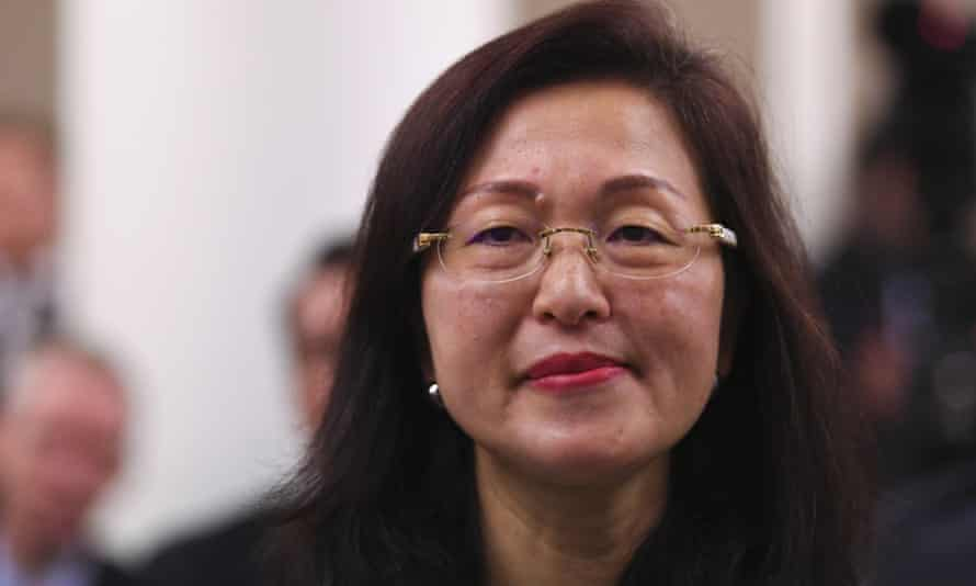 The newly elected Liberal MP for Chisholm, Gladys Liu, during a Coalition party room meeting in Canberra on Tuesday
