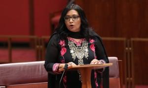 Dr Mehreen Faruqi makes her first speech in the Senate